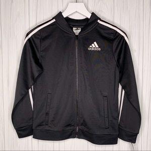 Adidas Big Girls L(14) Tricot Black Jacket